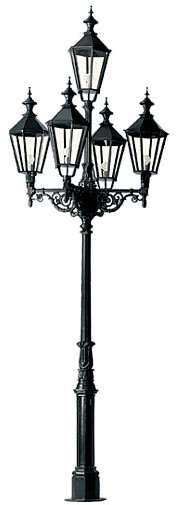Lampa ogrodowa - S68+5xK7