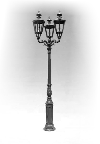 Lampa ogrodowa - S1+3xK7A
