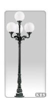 Lampa ogrodowa -  S2 +4x kula Φ 30cm