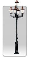 Lampa ogrodowa -  S1+5xK4+R7