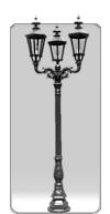 Lampa ogrodowa -  S2+3xK7A